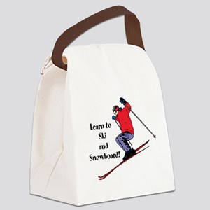 Learn to Ski and Snowboard Month Canvas Lunch Bag