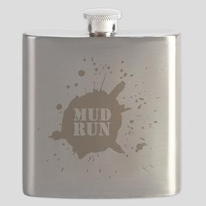 mud run brown Flask