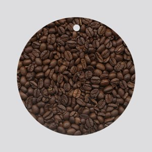 coffee_beans Round Ornament