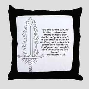 Hebrews 4:12 Throw Pillow