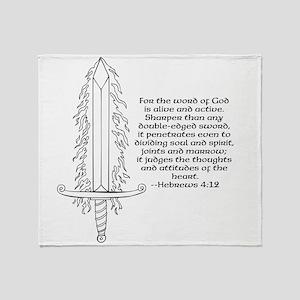 Hebrews 4:12 Throw Blanket