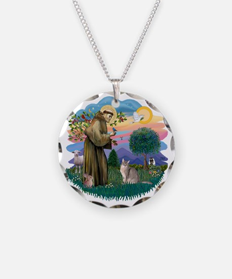 St Francis (ff) - Blue Abyss Necklace
