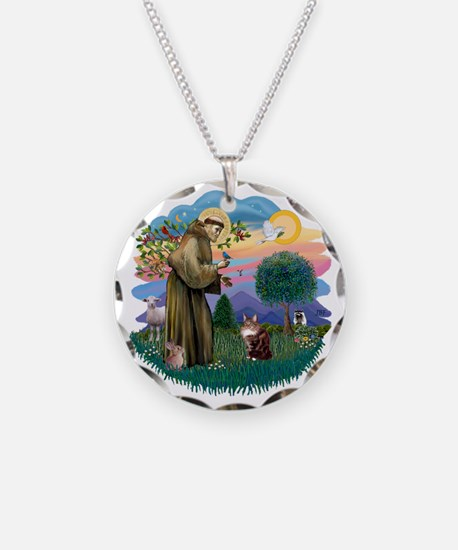 St Francis (ff) - Maine Coon Necklace