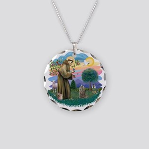 St Francis (ff) - Norwegian  Necklace Circle Charm