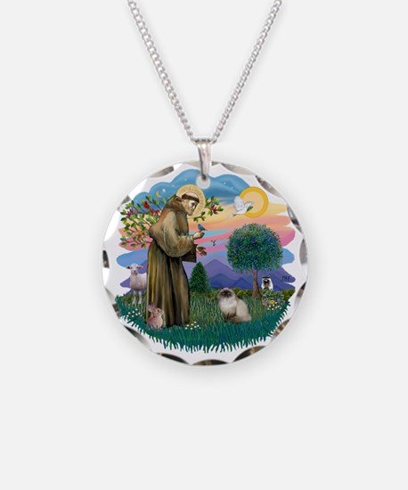 St Francis (ff) - Seal Point Necklace