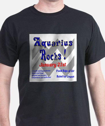 Aquarius January 21st Ash Grey T-Shirt