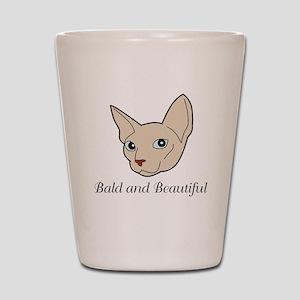 Baldy Cat Shot Glass