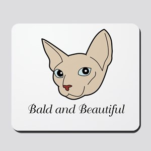 Baldy Cat Mousepad