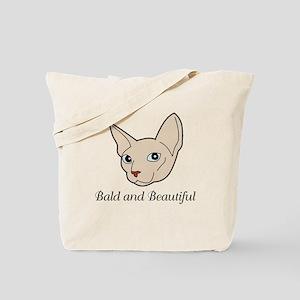 Baldy Cat Tote Bag