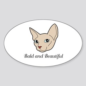 Baldy Cat Sticker