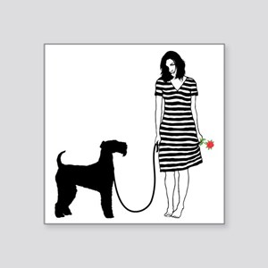 """Airedale-Terrier11 Square Sticker 3"""" x 3"""""""