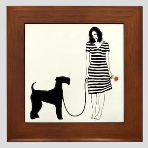 Airedale-Terrier11 Framed Tile