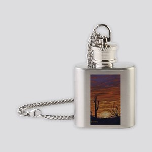 sonoran sunset magnet Flask Necklace