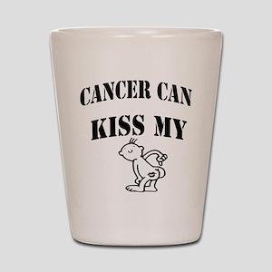 CancerCanOneSided2 Shot Glass