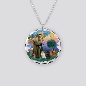 St Francis (ff) - 3 Persian  Necklace Circle Charm