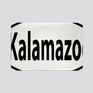 Kalamazoo oval Rectangle Magnet