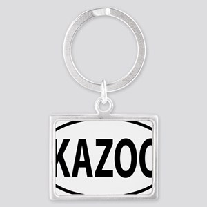 kazoo oval Landscape Keychain