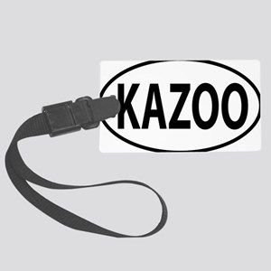 kazoo oval Large Luggage Tag