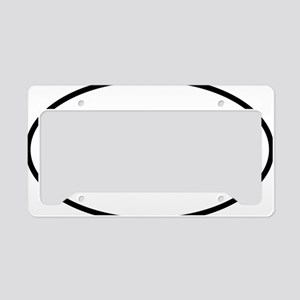 kazoo oval License Plate Holder