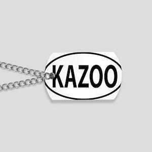 kazoo oval Dog Tags