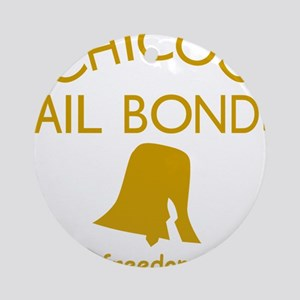 Chicos Bail Bonds Gold Round Ornament