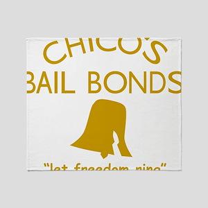 Chicos Bail Bonds Gold Throw Blanket