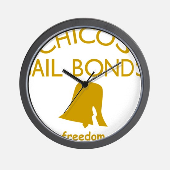 Chicos Bail Bonds Gold Wall Clock