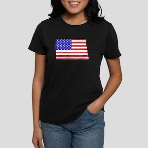 North Dakota Flag Women's Dark T-Shirt