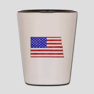 North Dakota Flag Shot Glass
