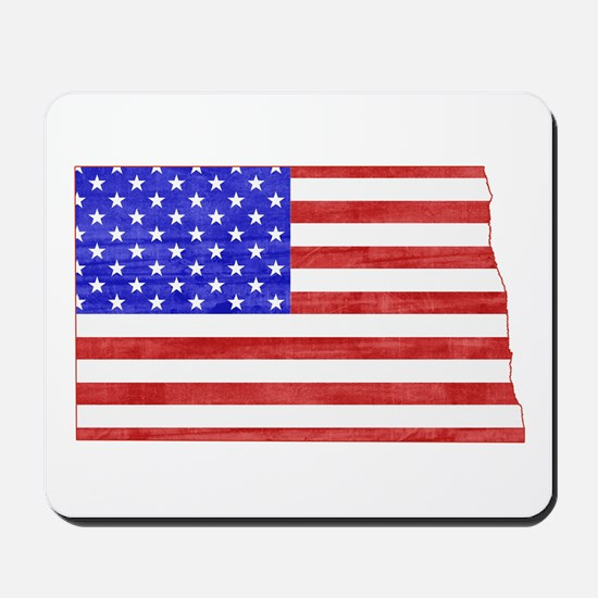 North Dakota Flag Mousepad