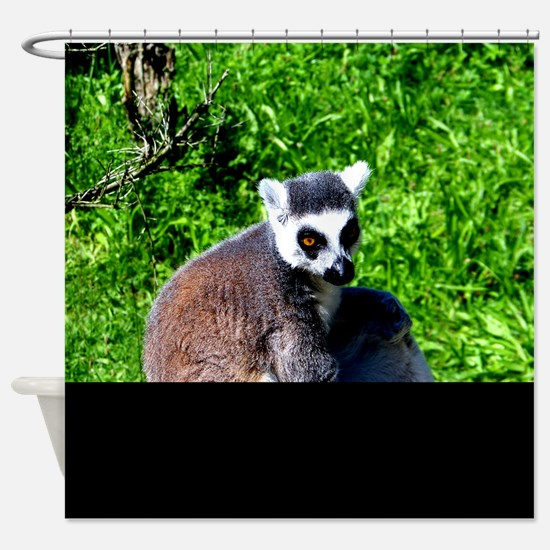 lemur monkey peace and relax Shower Curtain