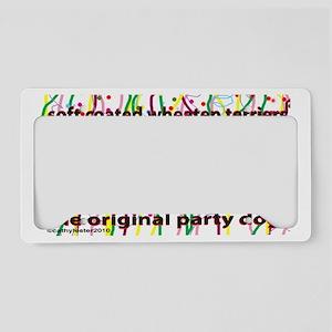 PartyDogSCWT License Plate Holder