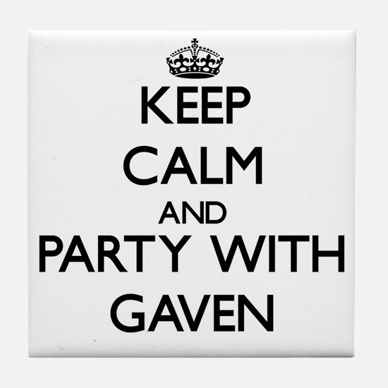 Keep Calm and Party with Gaven Tile Coaster