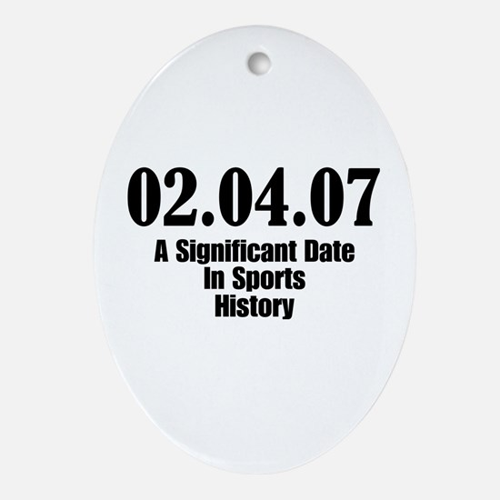 Sports History Oval Ornament