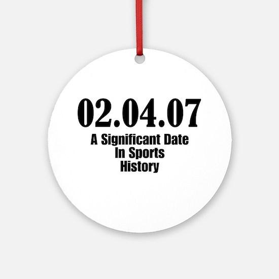 Sports History Ornament (Round)