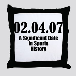 Sports History Throw Pillow