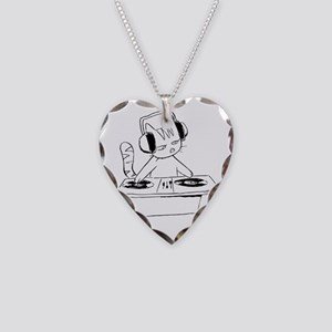 djcat_2010wht Necklace Heart Charm