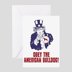 American-Bulldog18 Greeting Card