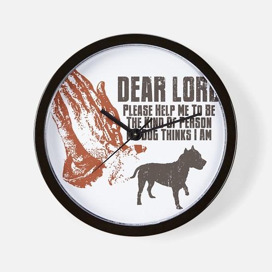 American-Staffordshire-Terrier19 Wall Clock
