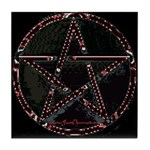 Red Pentacle Altar Tile