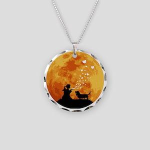 Basset-Hound22 Necklace Circle Charm