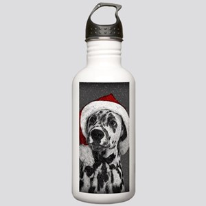 Dalmatian with snow Stainless Water Bottle 1.0L