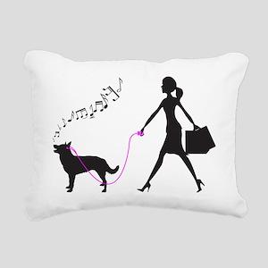 Australian-Kelpie32 Rectangular Canvas Pillow