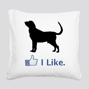 Bloodhound01 Square Canvas Pillow