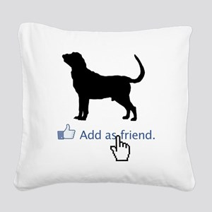 Bloodhound13 Square Canvas Pillow