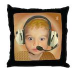 Baby Aviator Golden Fox Throw Pillow
