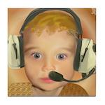 Baby Aviator Golden Fox Tile Coaster