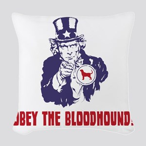 Bloodhound18 Woven Throw Pillow