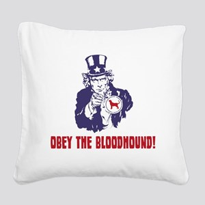 Bloodhound18 Square Canvas Pillow