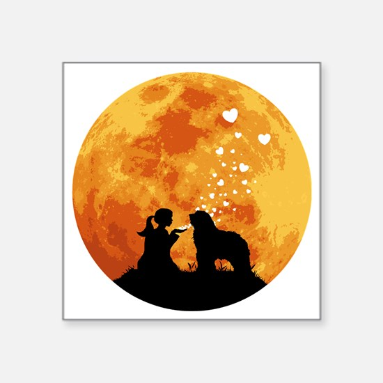 """Bergamasco-Sheepdog22 Square Sticker 3"""" x 3"""""""